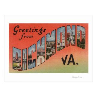 Postal Richmond, Virginia - escenas grandes 3 de la letra