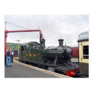 Postal Riego de una locomotora