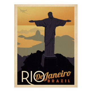 Postal Río De Janiero, el Brasil