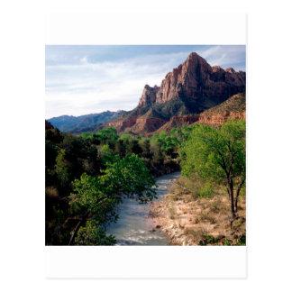 Postal Río de la Virgen del parque el vigilante Zion Utah