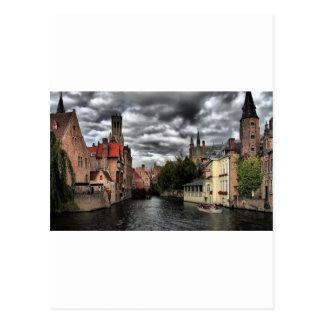 Postal Río en la ciudad de Brujas, Belguim
