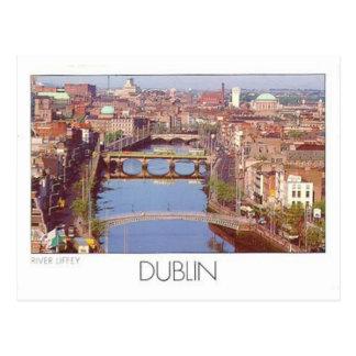 Postal Río Liffey (St.K.) de Irlanda Dublín