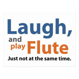 Postal Risa y flauta del juego