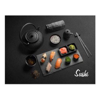 Postal Ritual del japonés del sushi