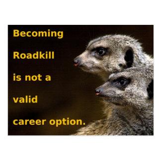Postal Roadkill que se convierte no es una opción válida
