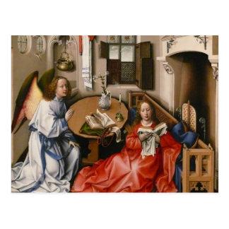 Postal Roberto Campin- el Altarpiece de Mérode - anuncio