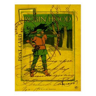 Postal Robin Hood, su arco y flecha