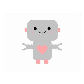 Postal Robot lindo del corazón