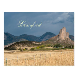 Postal Roca de la aguja en Crawford, Colorado
