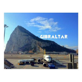 Postal Roca del aeropuerto de Gibraltar