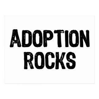 Postal Rocas de la adopción