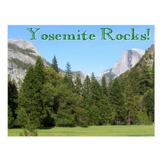 Postal ¡Rocas de Yosemite!