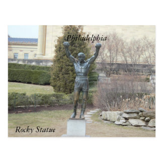 Postal rocosa de la estatua de Philadelphia