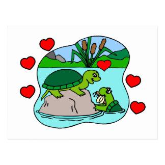 Postal Rodeado por amor de la tortuga