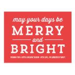 Postal roja de la foto de las Felices Navidad