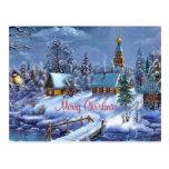 Postal roja de las Felices Navidad