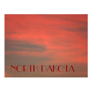 Postal roja del cielo de DAKOTA DEL NORTE