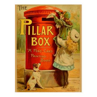 Postal roja del correo de la caja de pilar de los