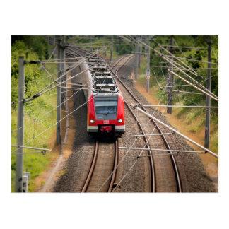 Postal roja del tren
