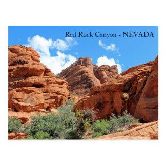 ¡Postal roja hermosa del barranco de la roca! Postal