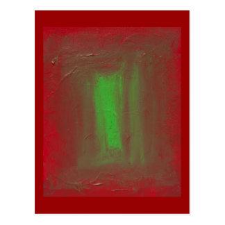 Postal Rojo para poner verde el homenaje de José Albers
