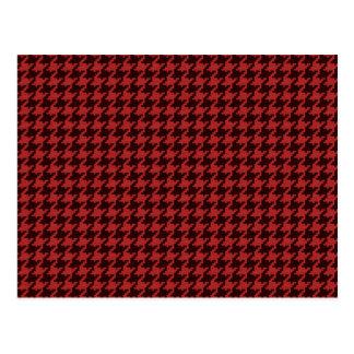 Postal Rojo y modelo texturizado negro de Houndstooth