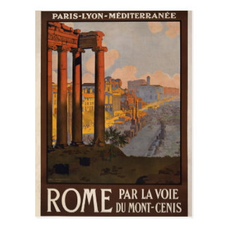 Postal Roma con el Mont-Cenis
