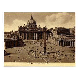 Postal Roma, Vatican, el cuadrado de San Pedro