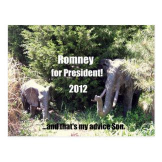 Postal Romney para el presidente - 2012