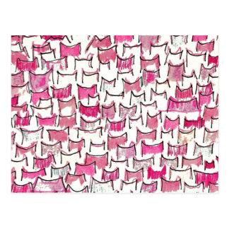 Postal rosada de los oídos de gato