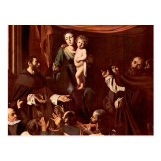 Postal Rosario Madonna por Caravaggio