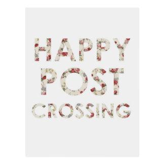 """Postal """"rosas felices de Postcrossing """""""