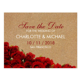 Postal Rosas rojos del estilo elegante