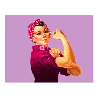 Postal Rosie el remachador - rosa del cáncer
