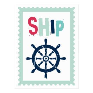 Postal Rueda náutica de la nave