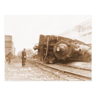 Postal Ruina 1929 del tren