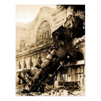 Postal Ruina del tren en Montparnasse, el 22 de octubre