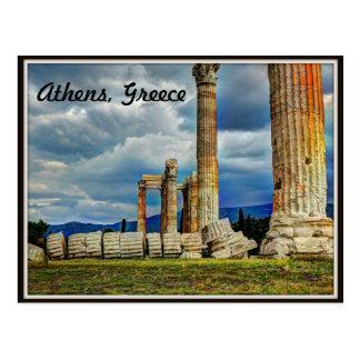 Postal Ruinas antiguas en Atenas Grecia