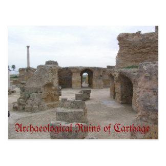 Postal Ruinas arqueológicas de Cartago