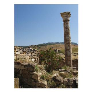 Postal Ruinas de HIERAPOLIS. antiguo