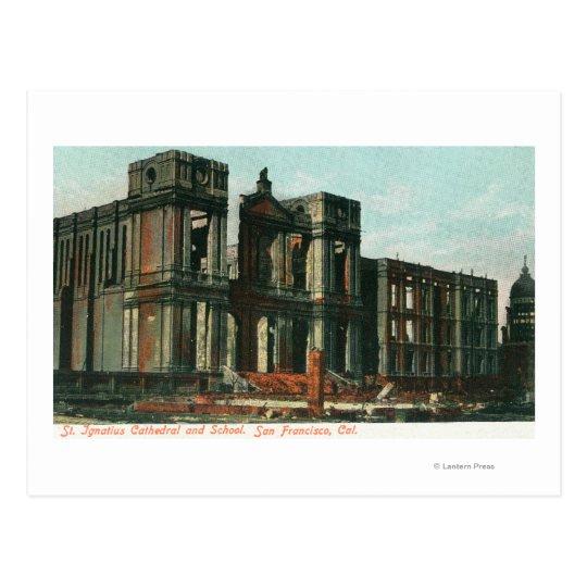 Postal Ruinas de la catedral y de la escuela de St