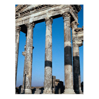 Postal Ruinas de la ciudad importante, Apamea, Siria