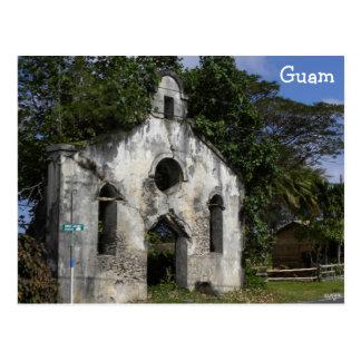 Postal Ruinas de la iglesia baptista de Guam