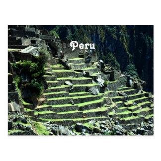 Postal Ruinas de Perú