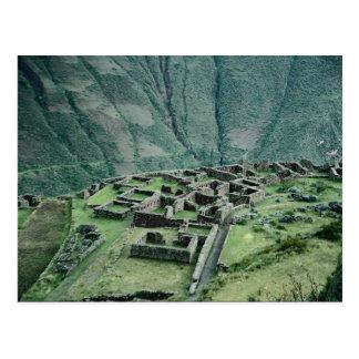 Postal Ruinas del inca, Pisac, Perú