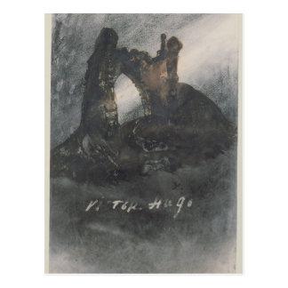Postal Ruinas en Groz-Nez, el jersey, o el arco