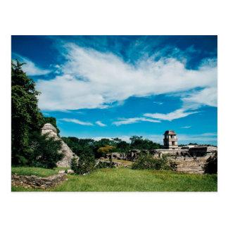Postal Ruinas mayas de Palenque