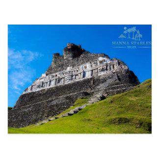 Postal Ruinas mayas de Xunantunich en Belice