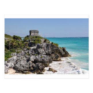 Postal Ruinas mayas en Tulum México