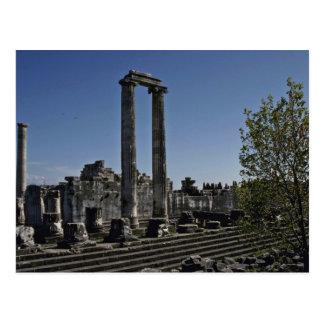 Postal Ruinas quebradas del estilo griego